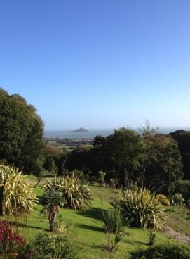 The view from Tremenheere Sculpture Garden