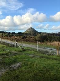 A sky tip, known as the White Pyramid (photo: Simon Bayliss)